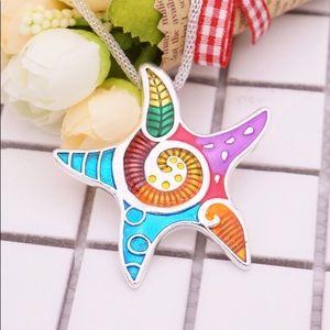 Starfish Pendant Necklace Choker